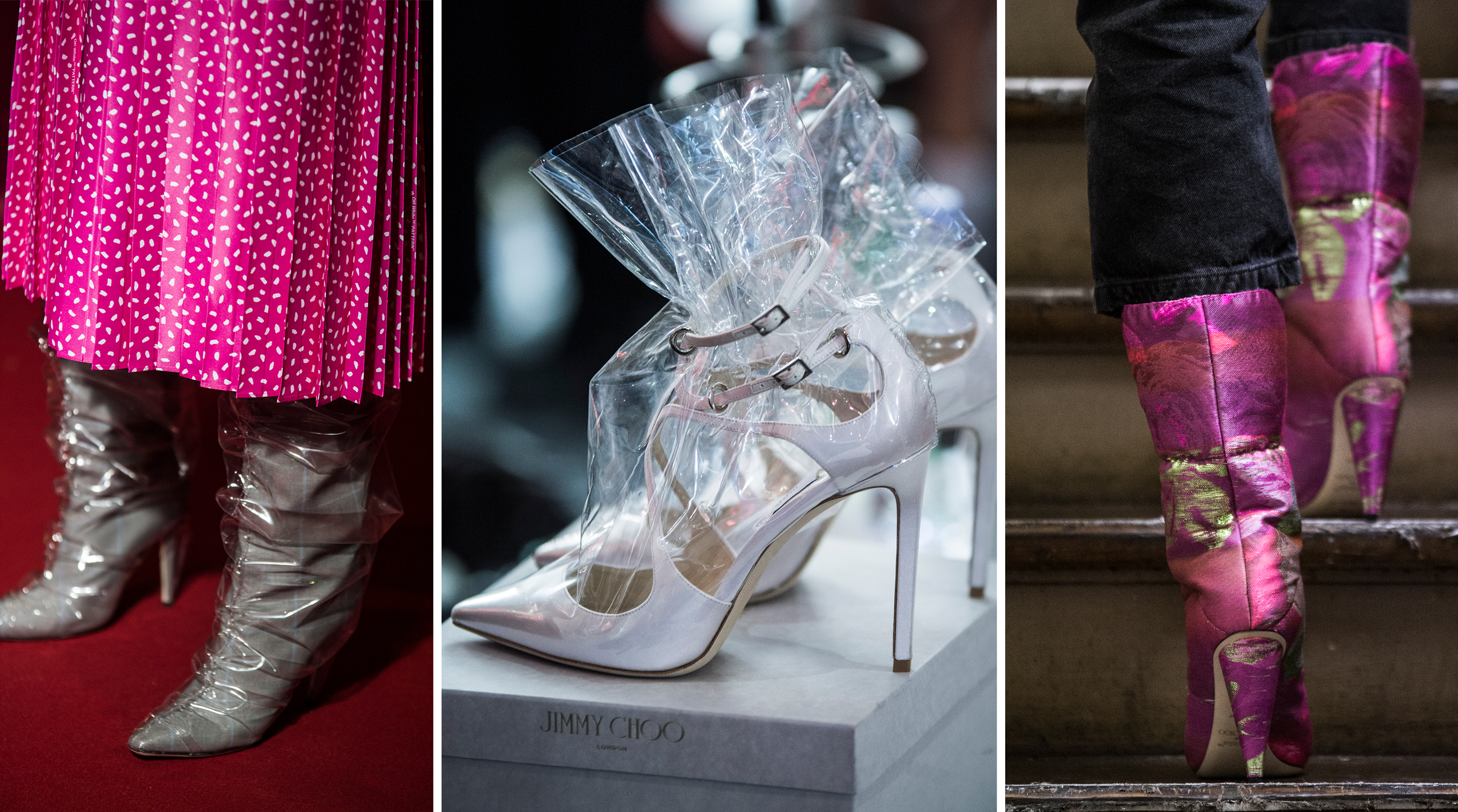 Off-White c/o Jimmy Choo: The most plastic fantastic shoe collab is inspired by Cinderella