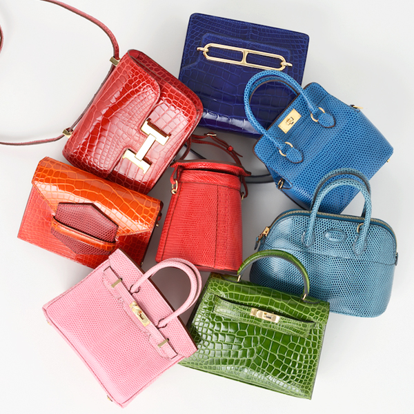 Hermès set of 8 Leather Forever Star Bags