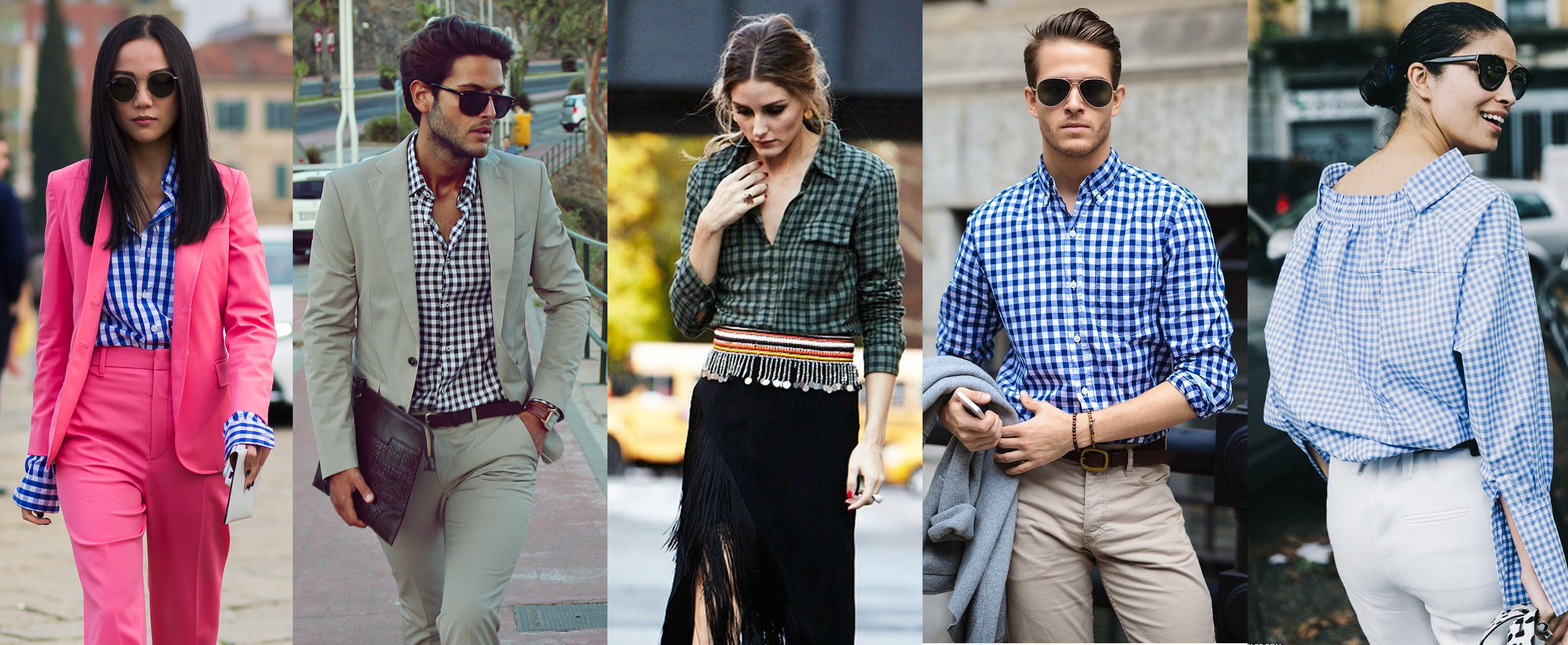 How to wear: Checked unisex shirt
