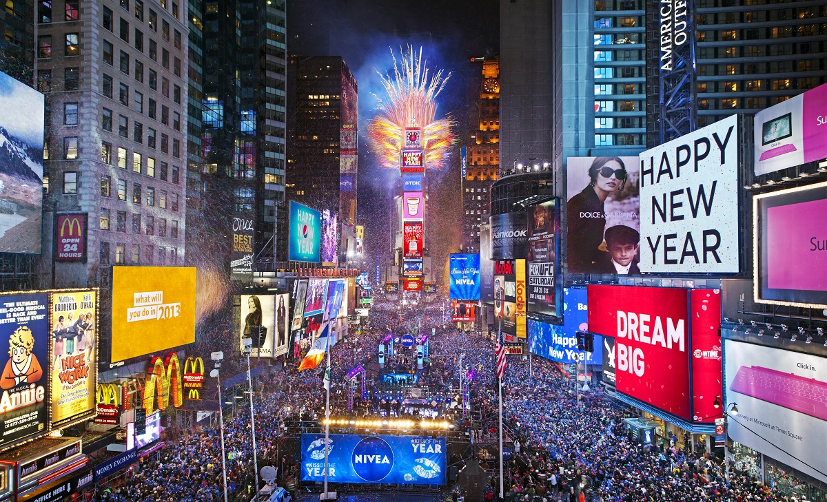 Times Square New Year's Eve Ball Drop, New York