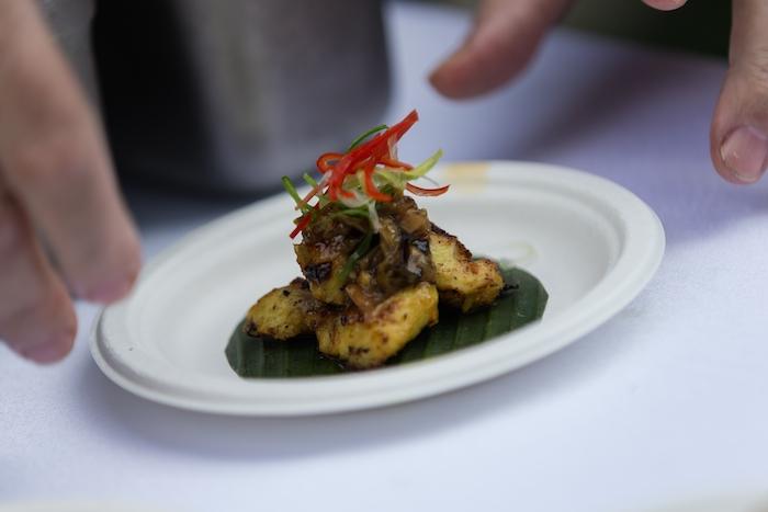 Kaum's pan-fried eel with green chilli relish
