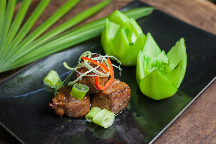 Duddell's pan-fried M9 Australian Wagyu beef with wasabi soy sauce