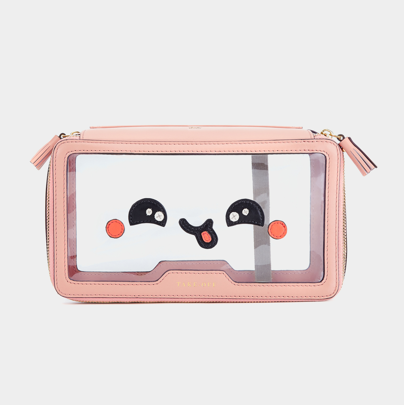 Anya Hindmarch Kawaii leather-trimmed travel case