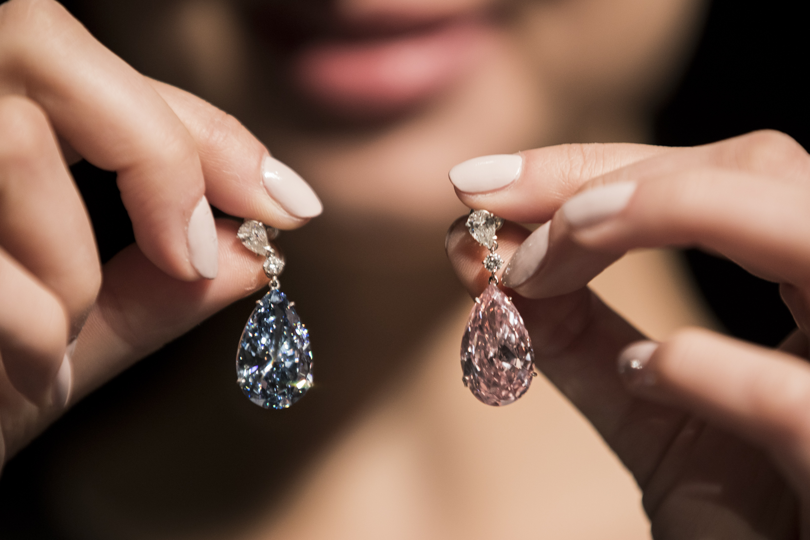 On the rocks: These Apollo and Artemis diamonds are the most valuable earrings to ever be auctioned