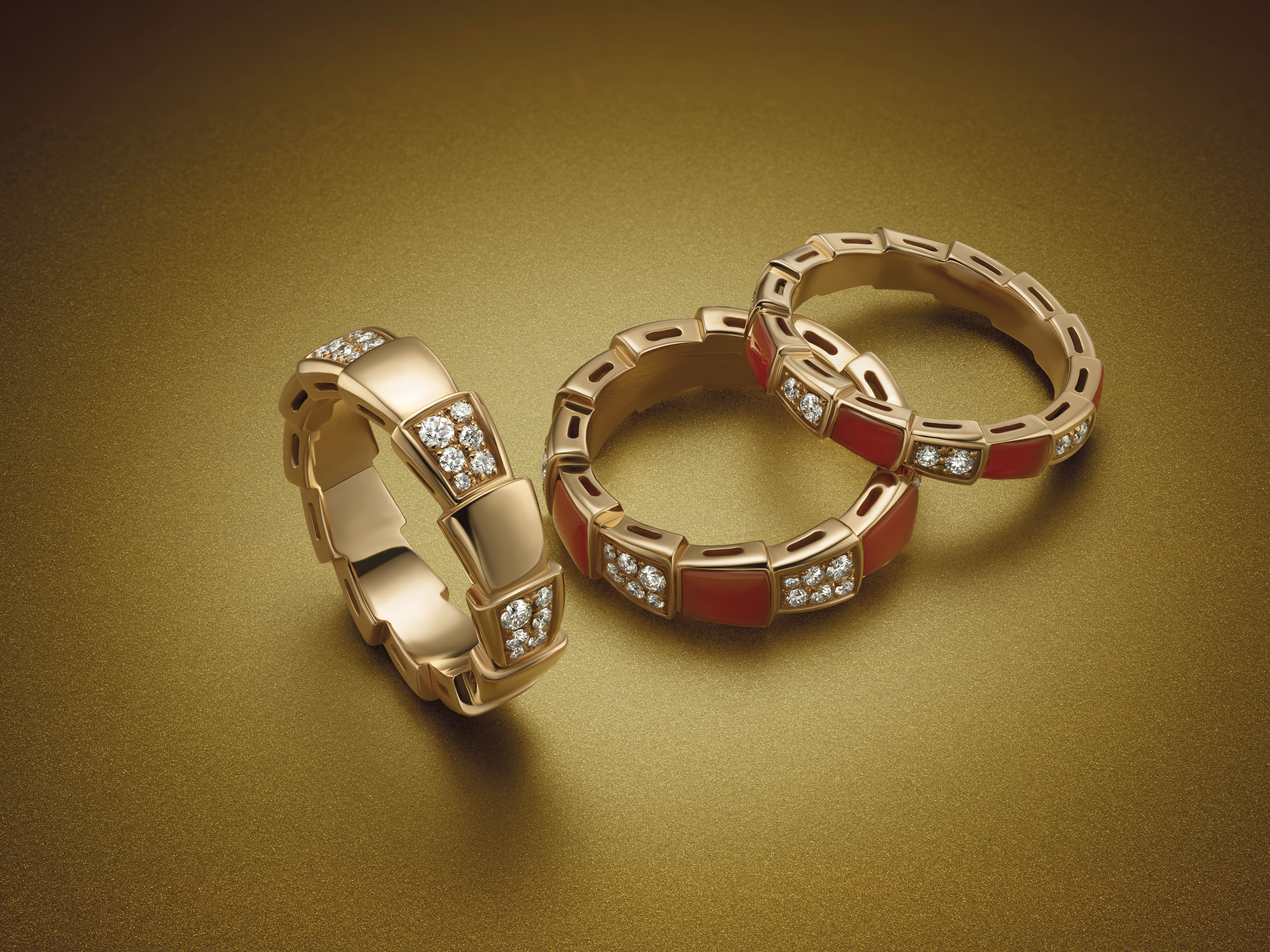 On the rocks: These Bulgari Serpenti Viper rings will slither their way into your heart