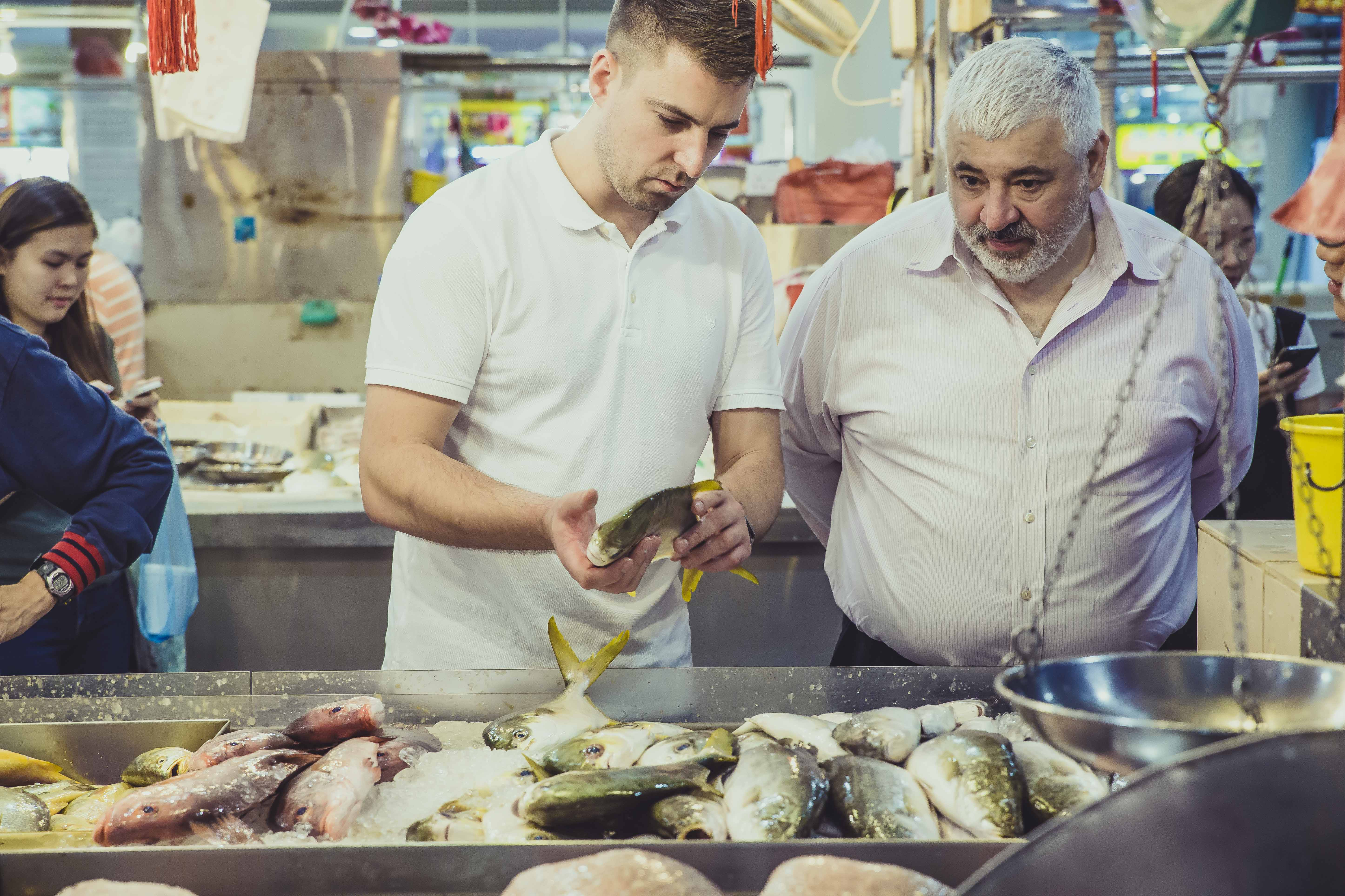 Get your hands dirty when buying fish
