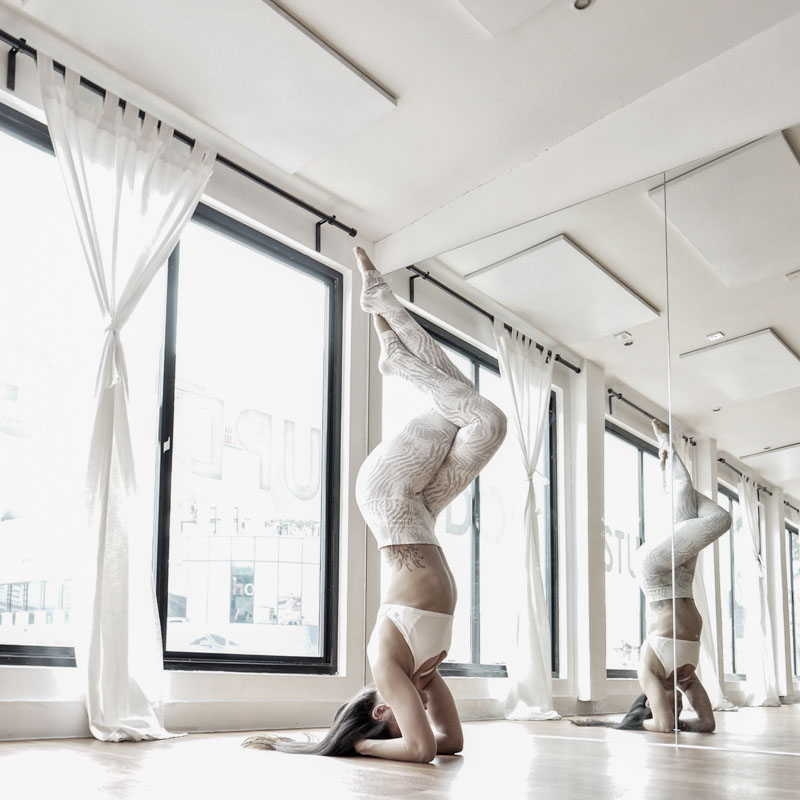 To challenge yourself, try Yoga Lab's Flow classes