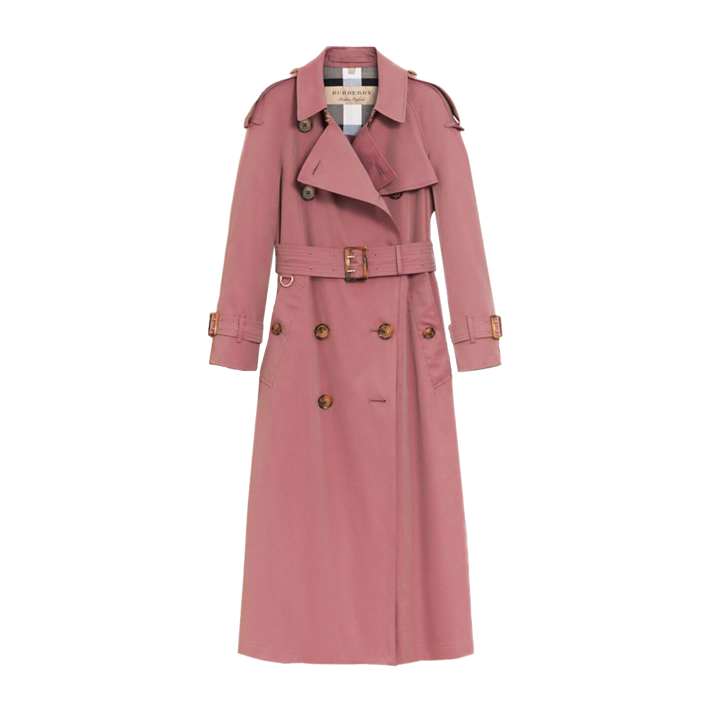 Burberry Tropical Gabardine Trench Coat in Antique Rose