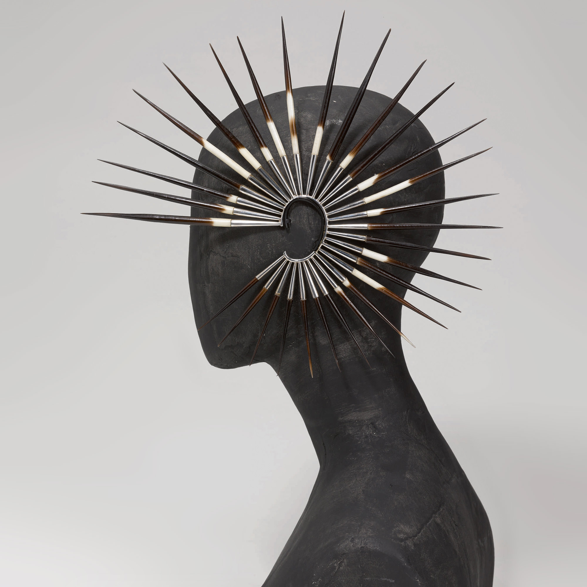 Porcupine quill earrings, Alexander McQueen's 'Irere' collection, Spring/Summer 2003