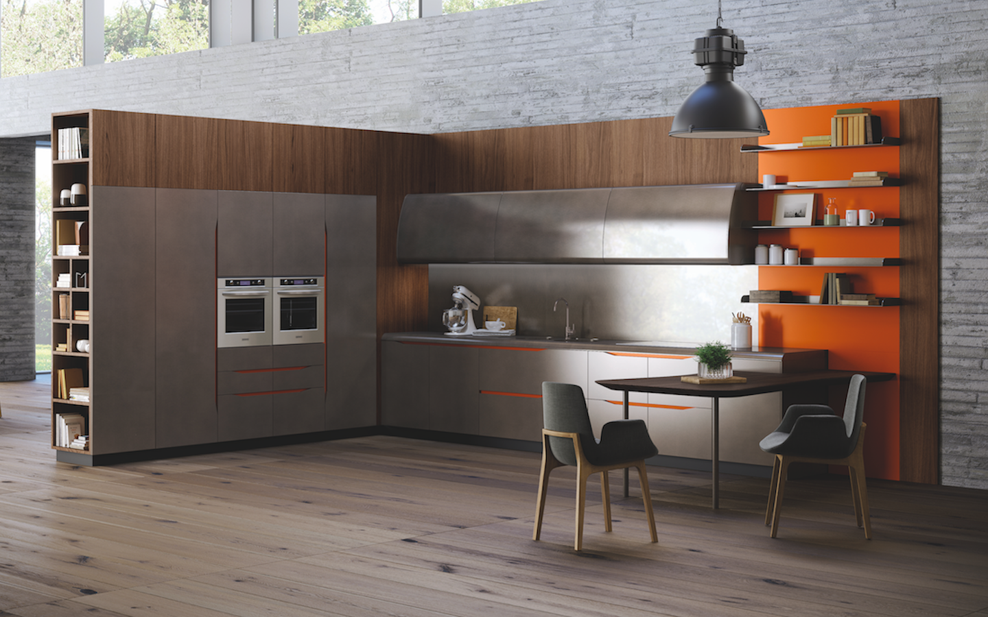 Here's a kitchen available in Malaysia that's inspired by the Lamborghini Miura