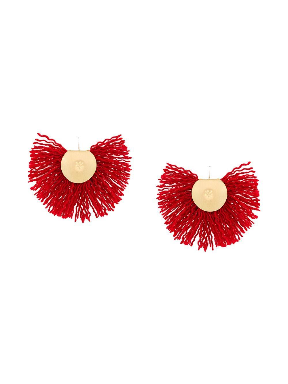 Katerina Makriyianni fan earrings
