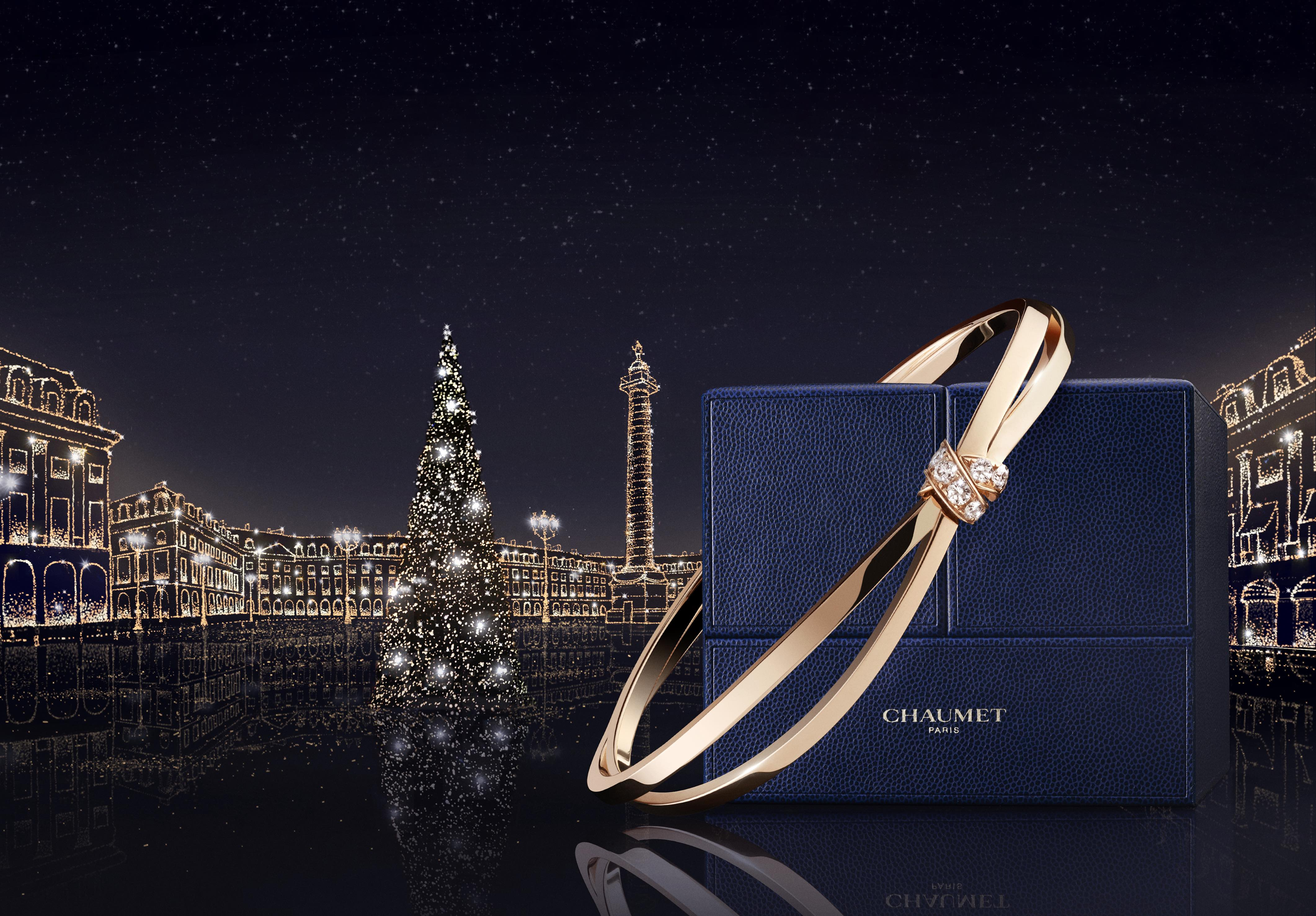 Get into the Christmas spirit with Chaumet's Liens jewels and new jewellery box