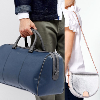 Day 6: Ted Baker 'Claws' crossgrain holdall and 'Annii' moon-shaped bag
