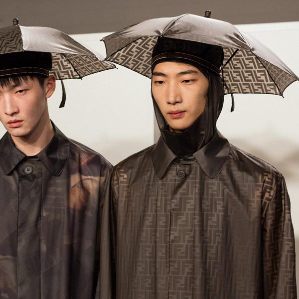 Fendi made umbrella hats