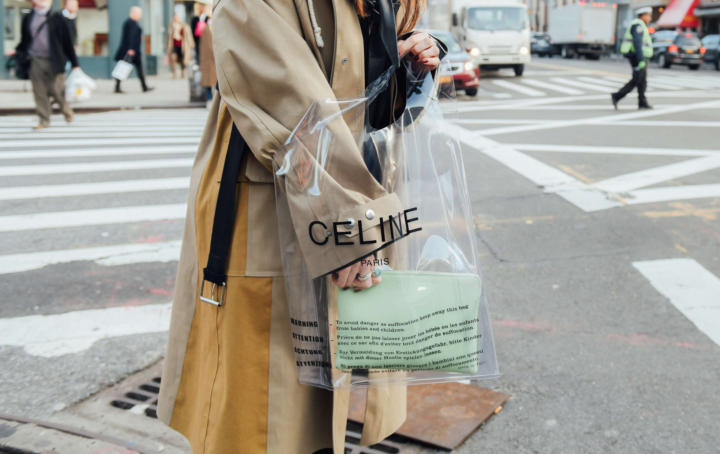 Why see-through bags are all the rage, and where to buy them