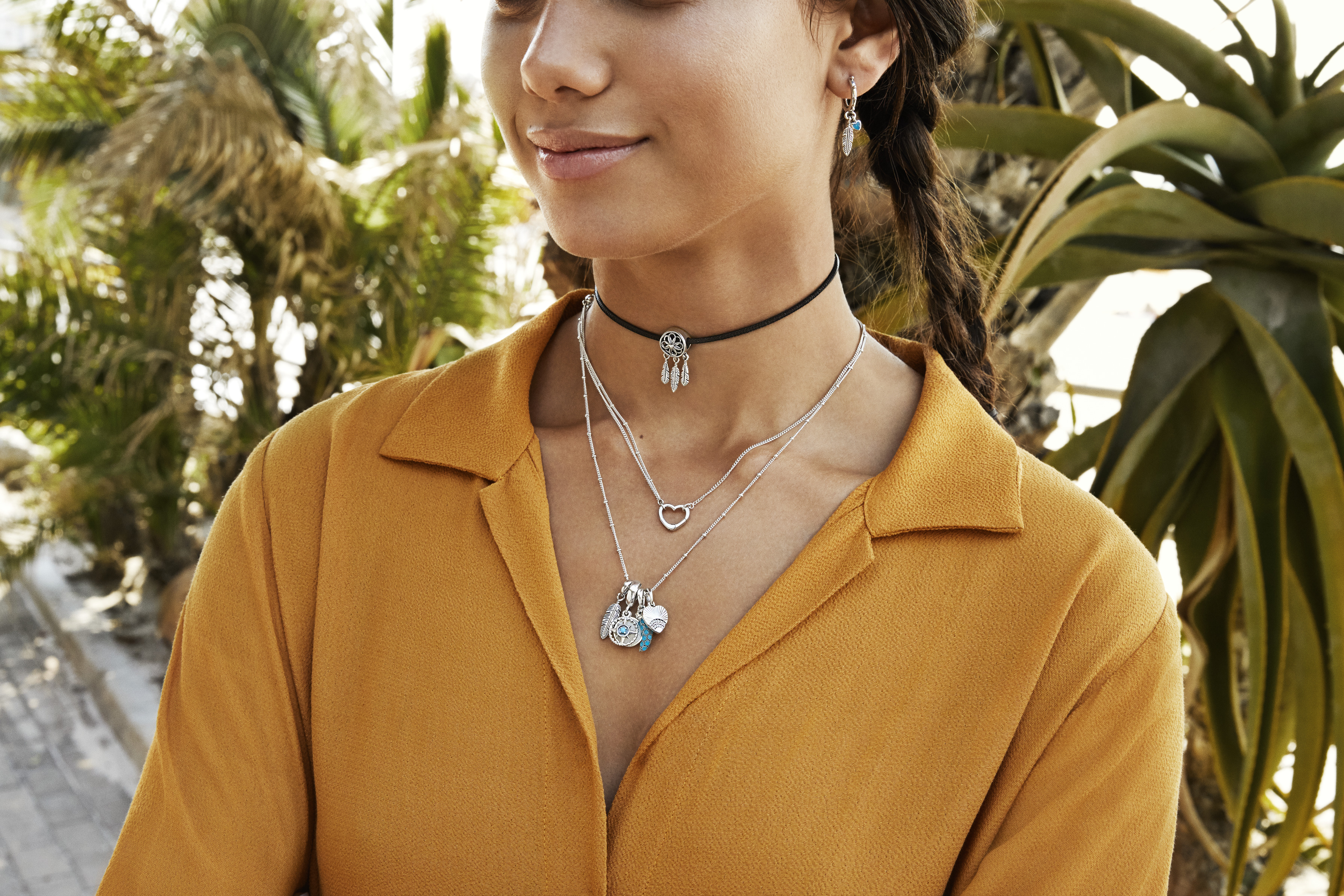 Long, layered necklaces
