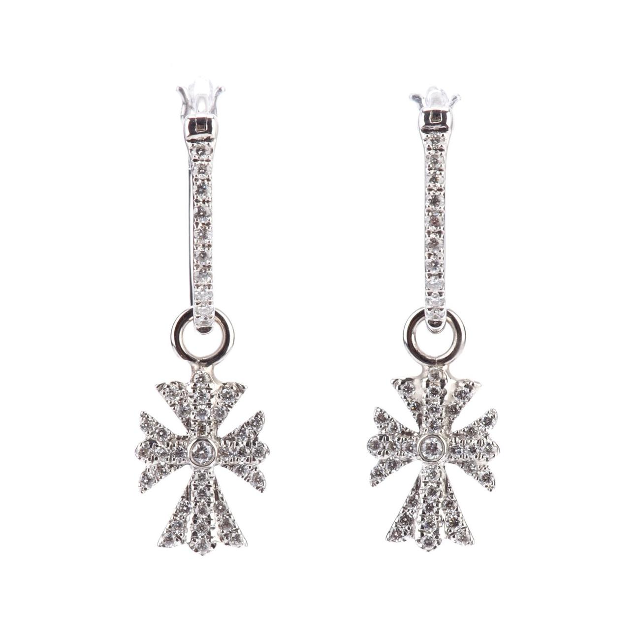 Elise Dray's diamond cross earrings