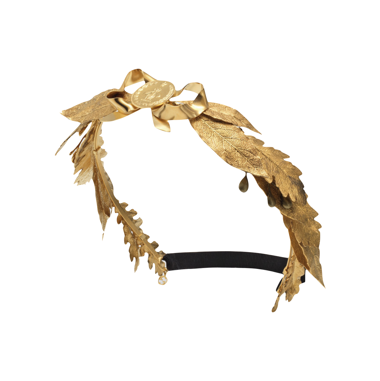 Gucci's metal leaves hairband