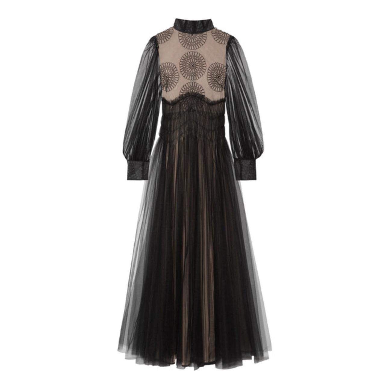 Valentino's appliquéd tulle gown