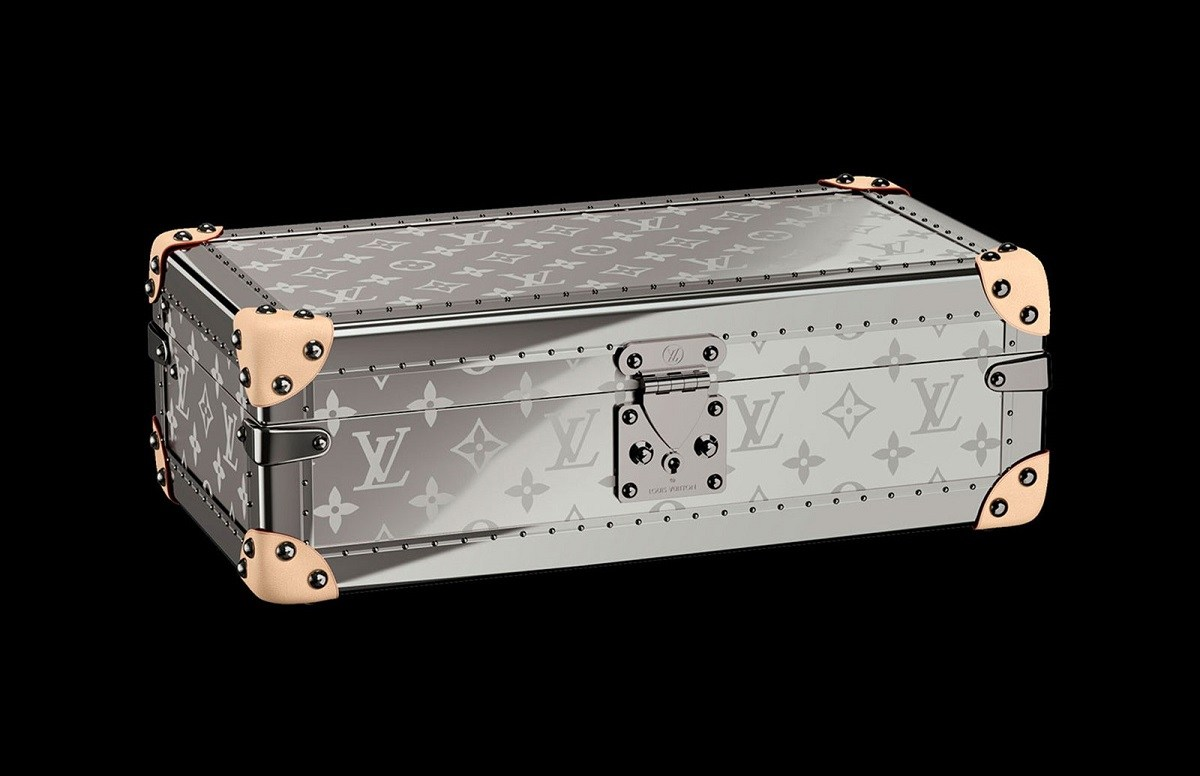 Louis Vuitton's monogrammed watch trunk now comes in Titanium and Ruthenium