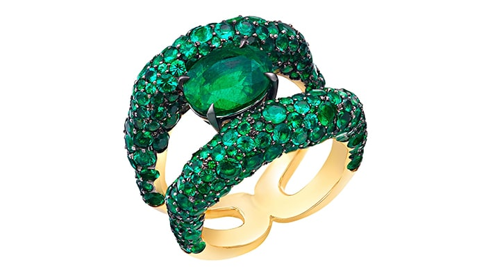 Fabergé Emotion Charmeuse Emerald Ring