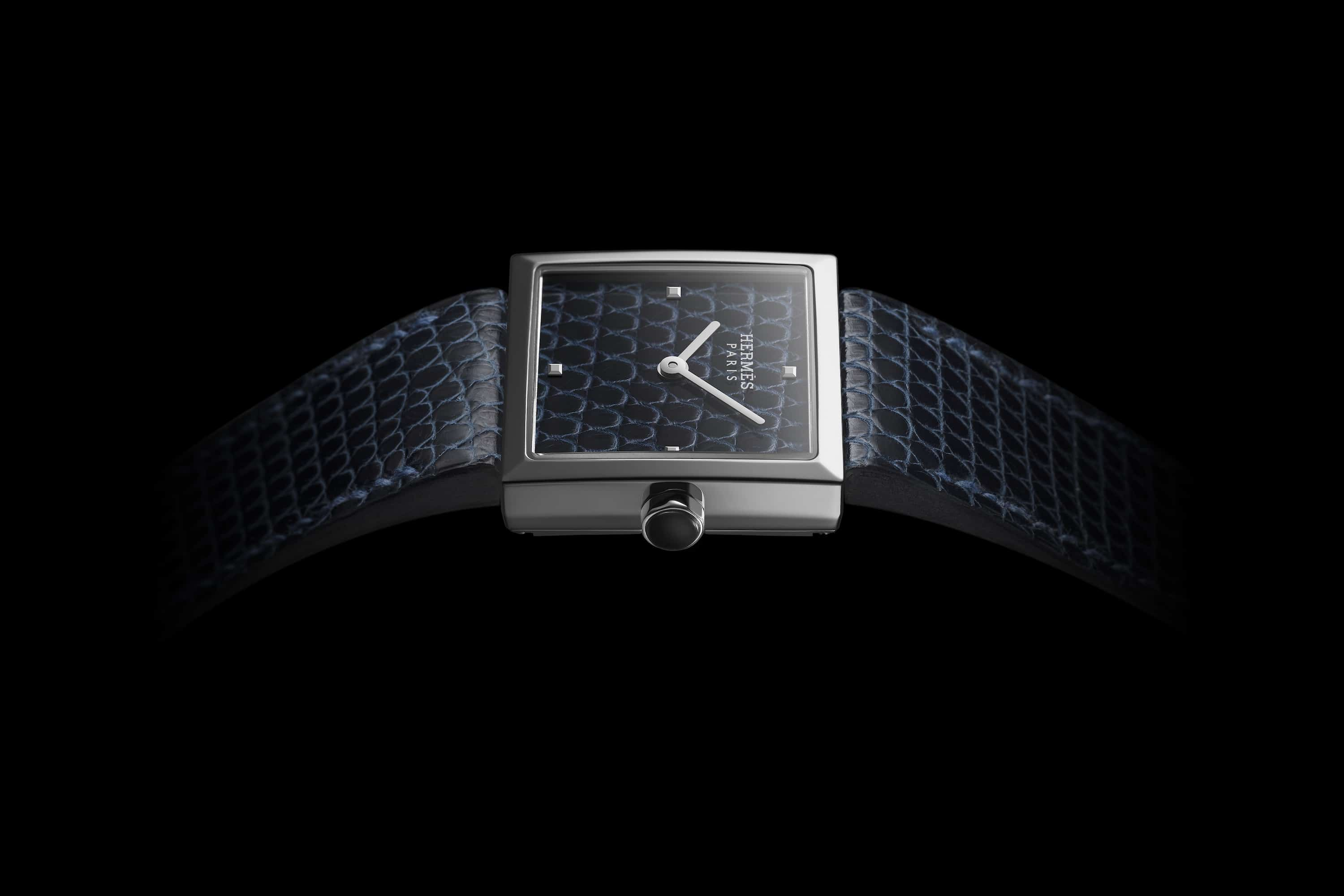 The new Hermès Carré Cuir tells time using a clever optical illusion