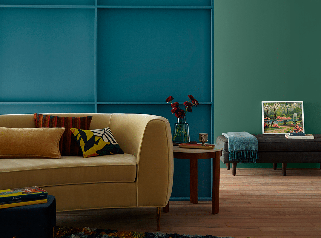 How to use blue-green, teal and turquoise in your home