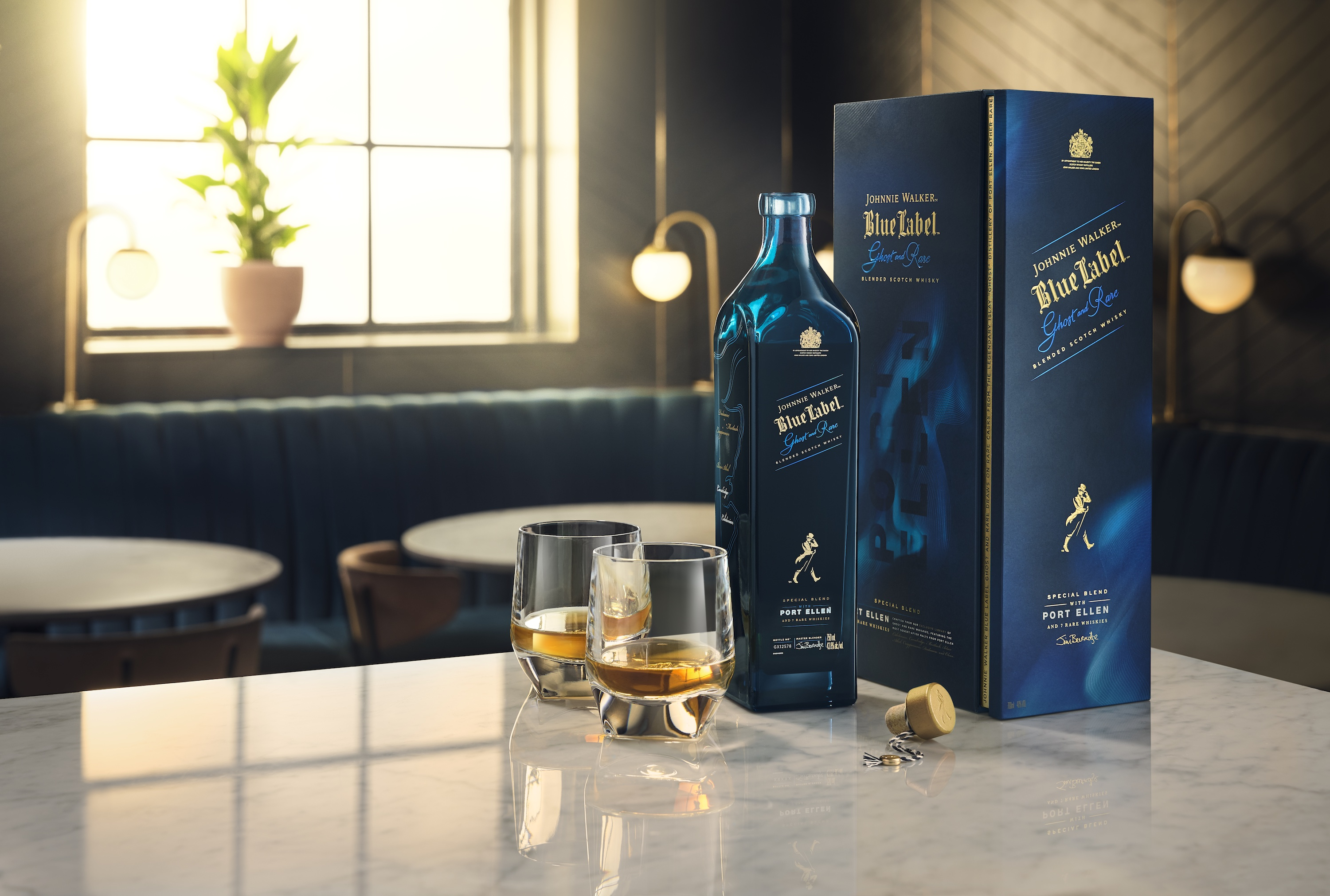 Johnnie Walker Blue Label Ghost and Rare Port Ellen pays tribute to the iconic ghost distillery