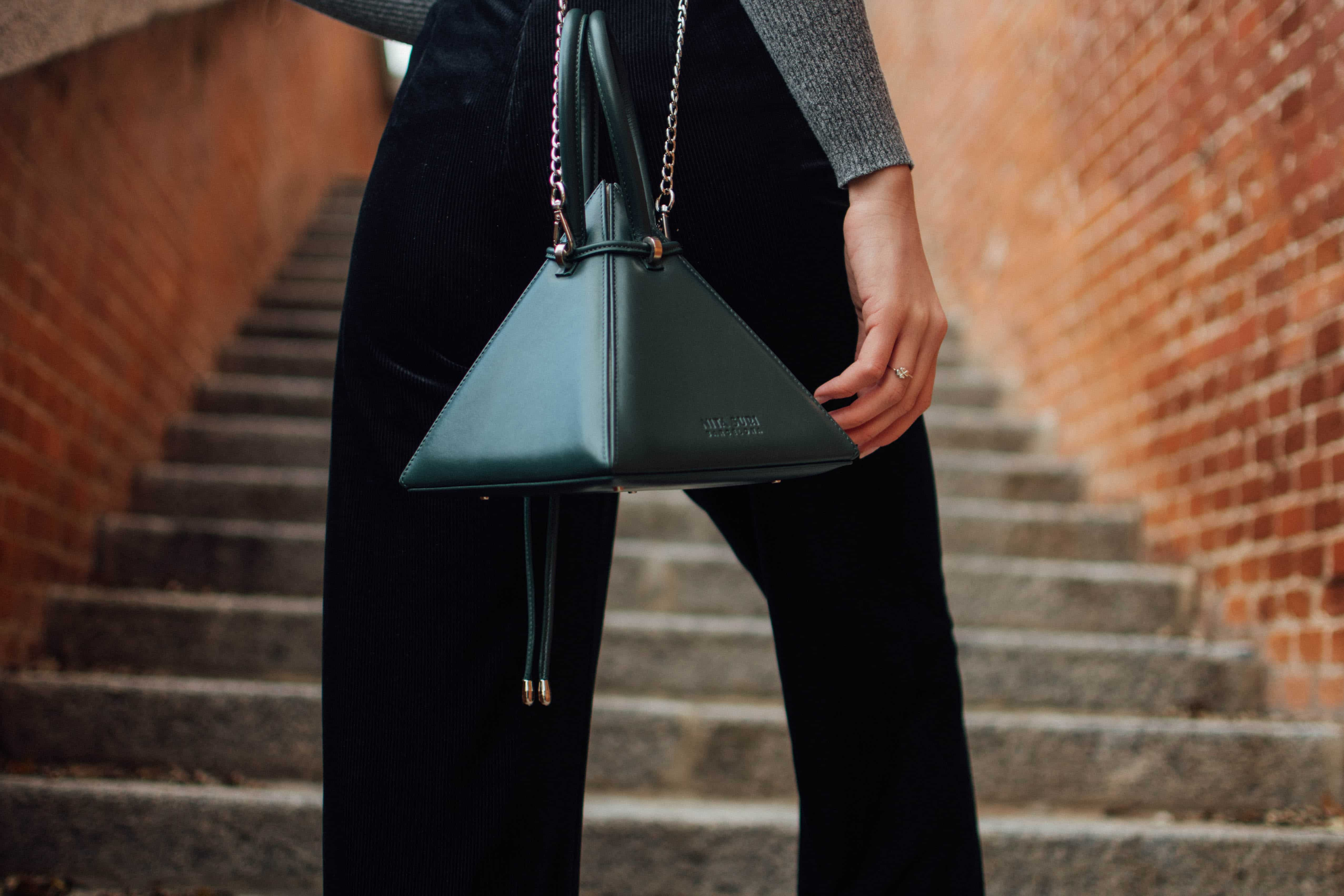 The label Nita Suri is fusing art and architecture through its edgy bags