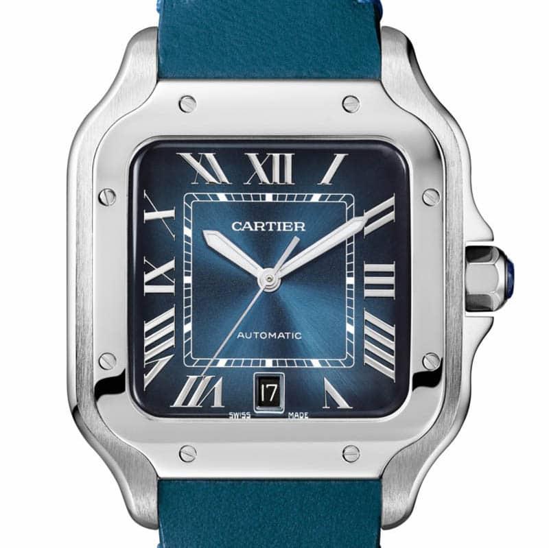 Santos de Cartier Large Model Gradient Blue Dial