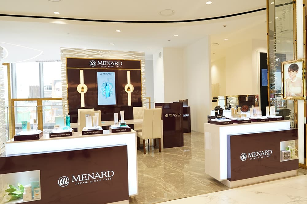 Luxury cosmetics brand Menard has opened its first flagship at Bangkok's ICONSIAM