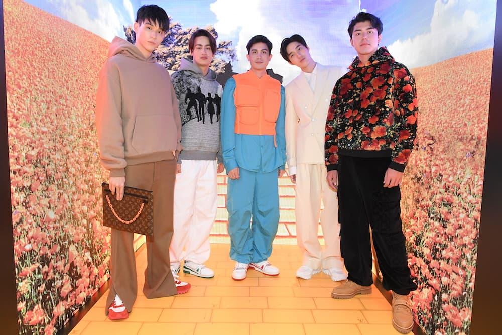 From left: Wongrawee Nateetorn, Paris Intarakomalyasut, Sunny Suwanmethanont, Thanapob Leeratanakajorn, and Naphat Siangsomboon