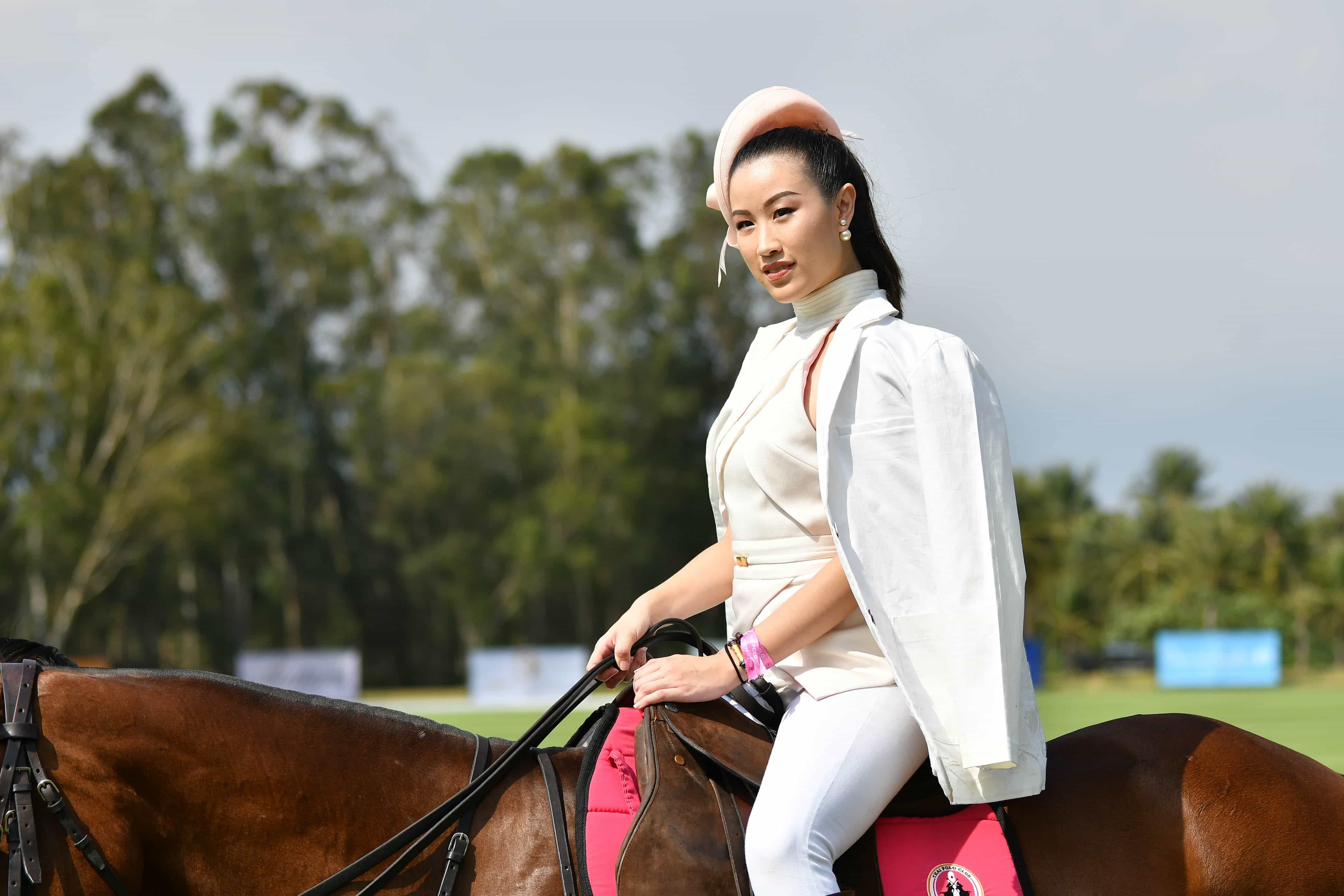 Panitta Sornthaiteva during the horseback fashion show
