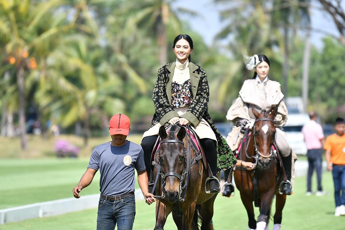 Prangned Thajai during the horseback fashion show