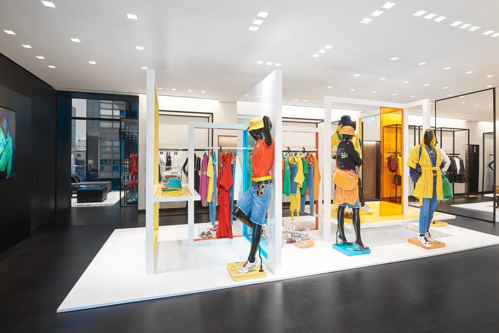 The Chanel-Pharrell capsule space in the Chanel Seoul boutique