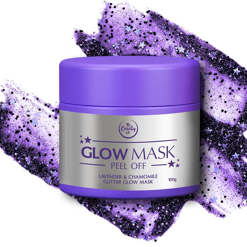 The Beauty Co Lavender and Chamomile Glitter Glow Mask