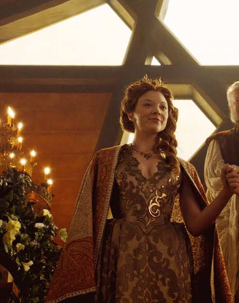 Game of Thrones, Margaery Tyrell. at her wedding to marry tommen baratheon