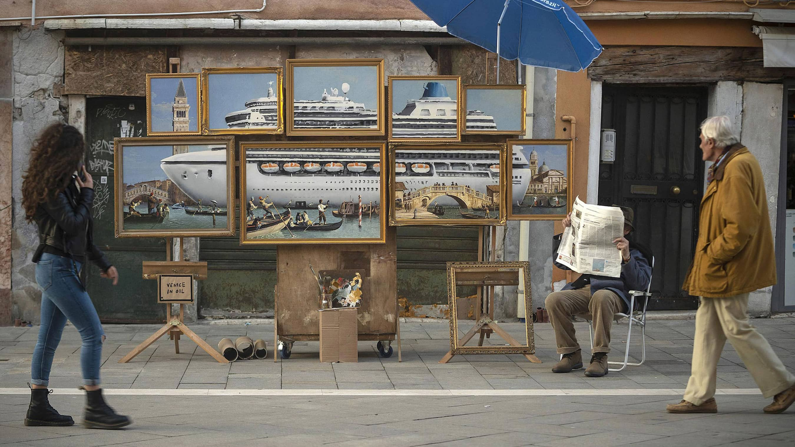 Banksy takes over Venice Biennale, here's where to find his street art