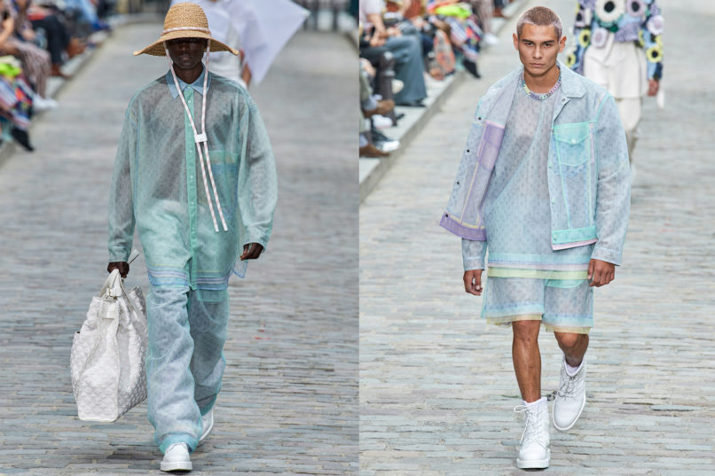 Runway looks from Louis Vuitton SS2020 menswear collection