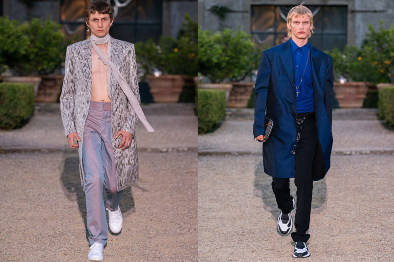 Runway looks from Givenchy SS2020 menswear collection