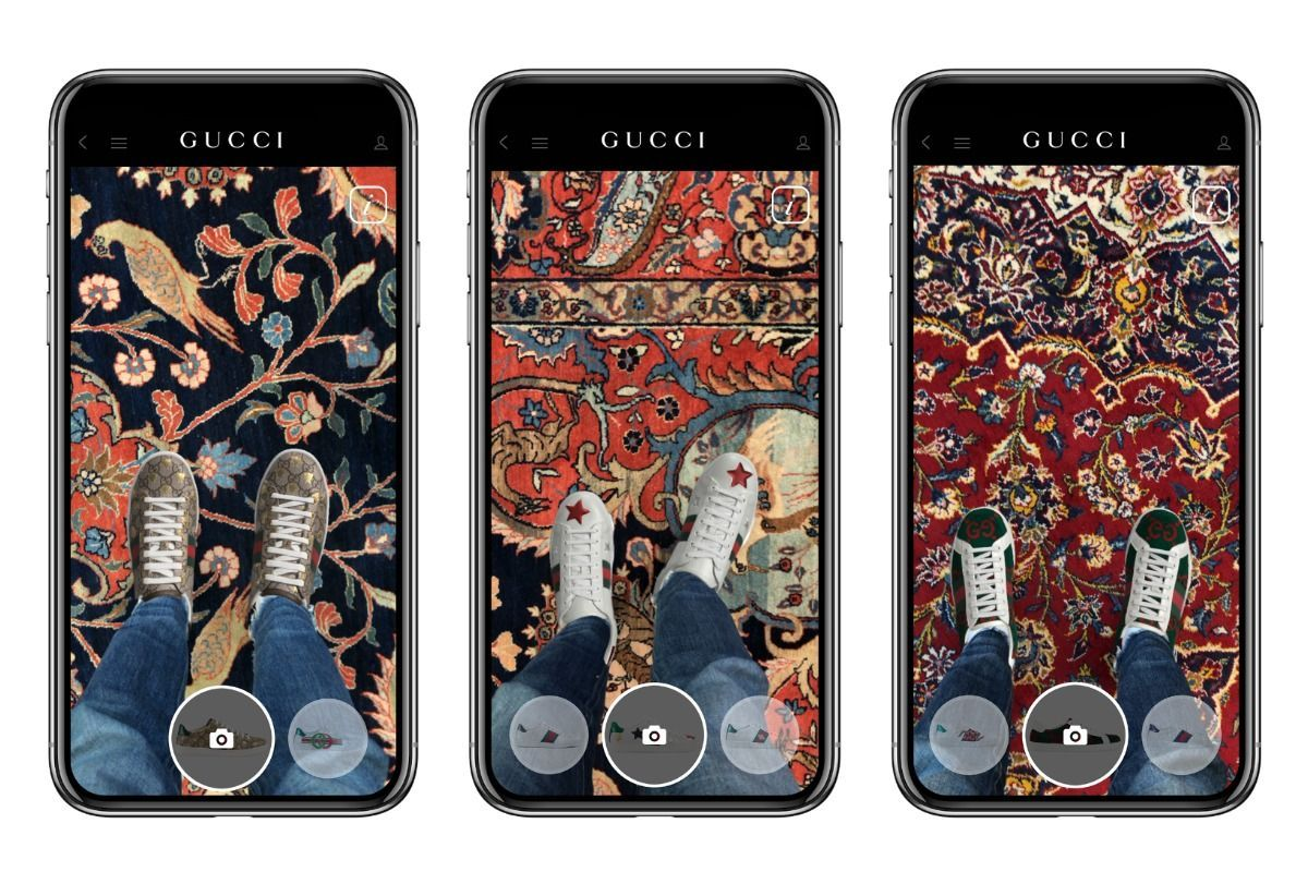 Gucci's new AR services allows shoppers to 'try on' its Ace sneakers