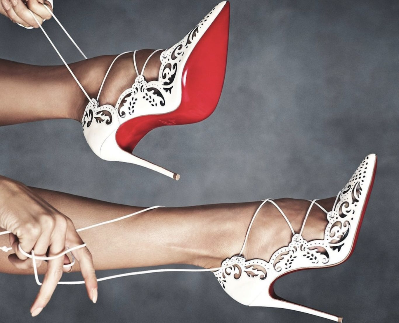 The Christian Louboutin red soles