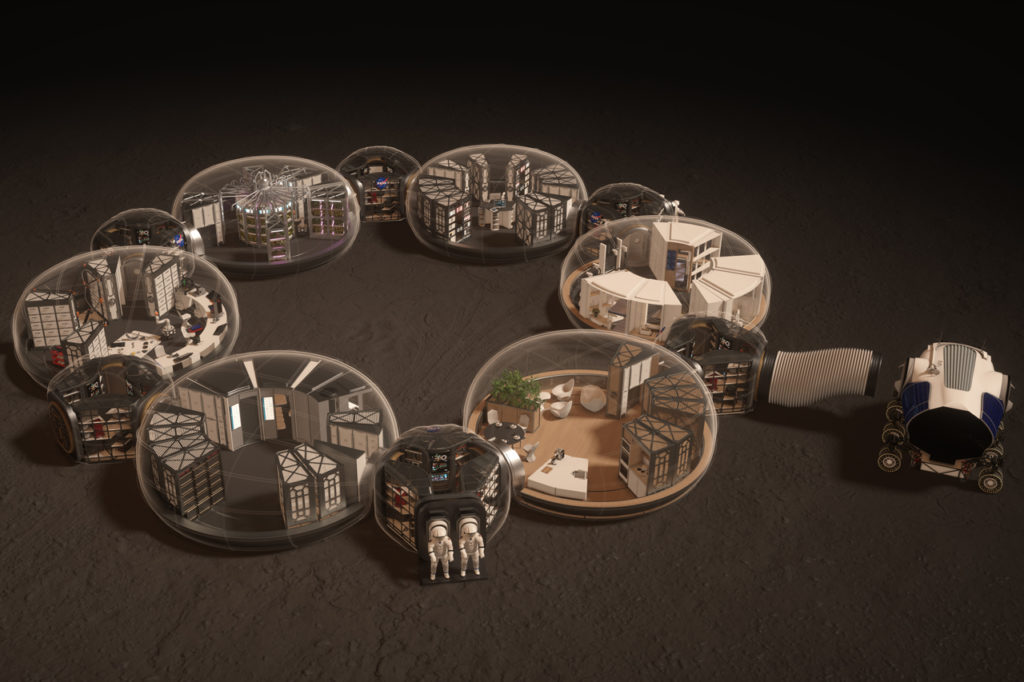 "Render preview of the ""bubbles"" - photo courtesy of Hassell Studios"
