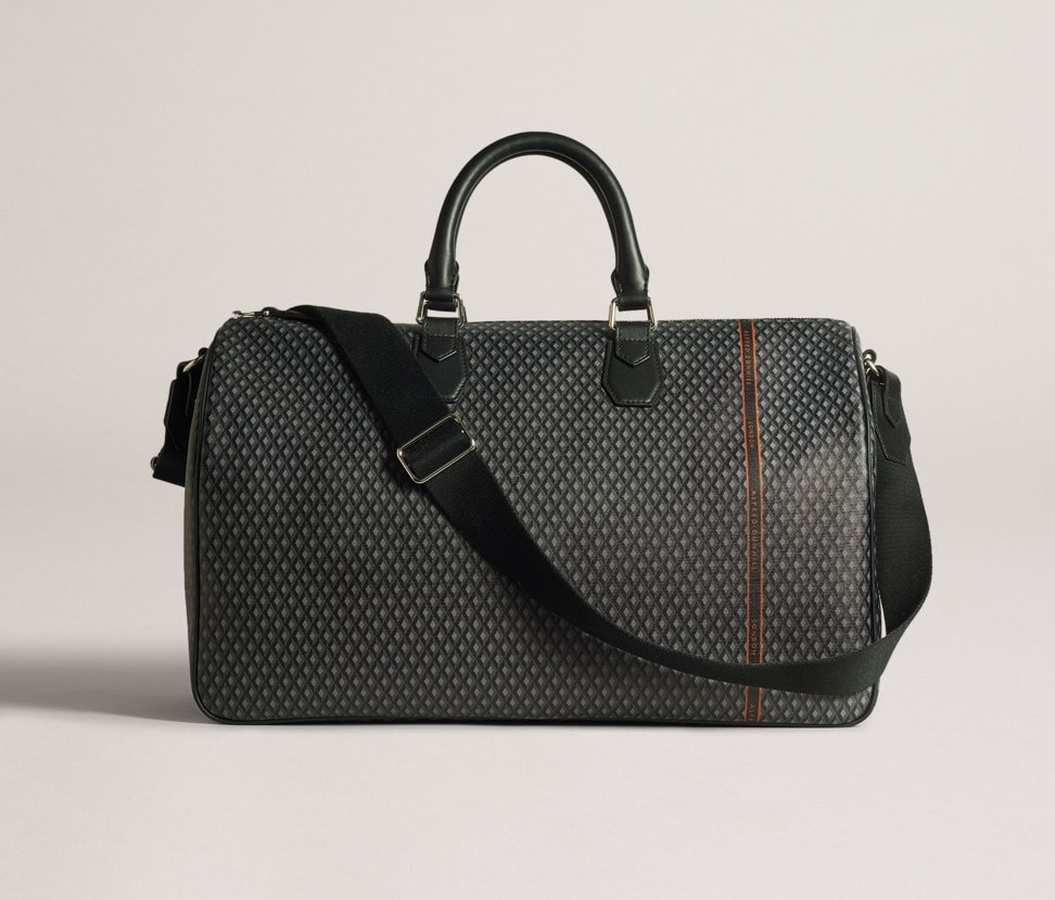 Dunhill Engine Turn Luggage Canvas Holdall