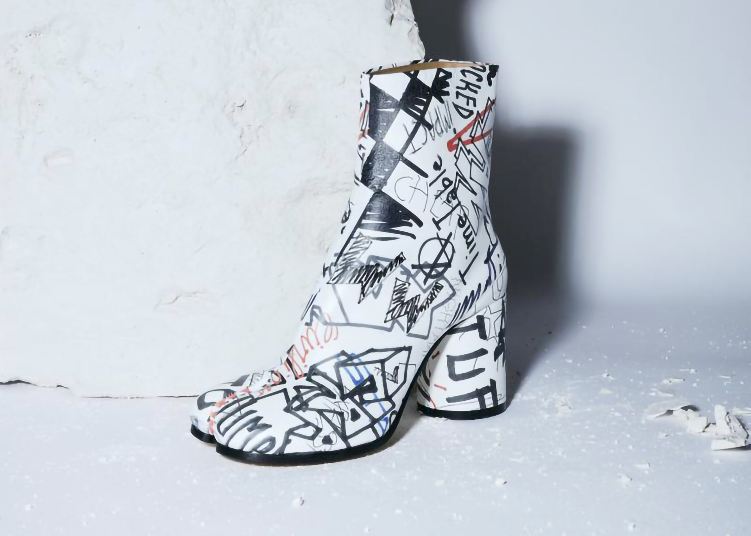 Maison Margiela presents a vandalised version of the Tabi Boots