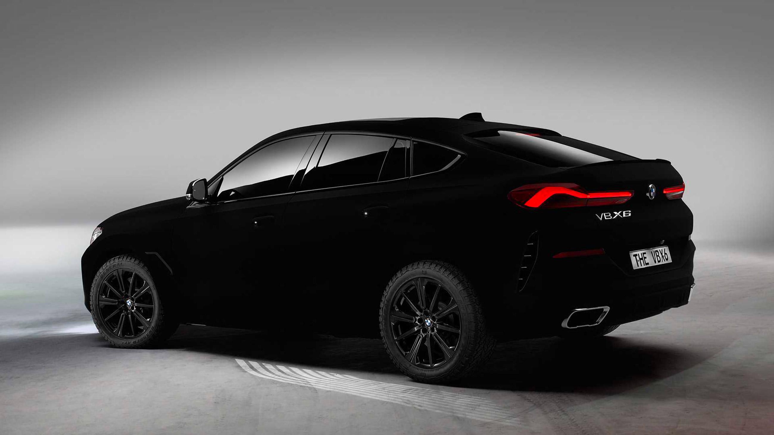 The new BMW X6 Vantablack takes you back to black