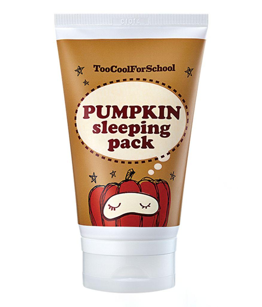 Too Cool For School Pumpkin Sleeping Pack Overnight Mask