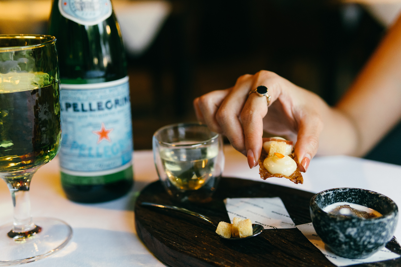 San Pellegrino presents: food and water pairing is a thing and we tried it at Enoteca