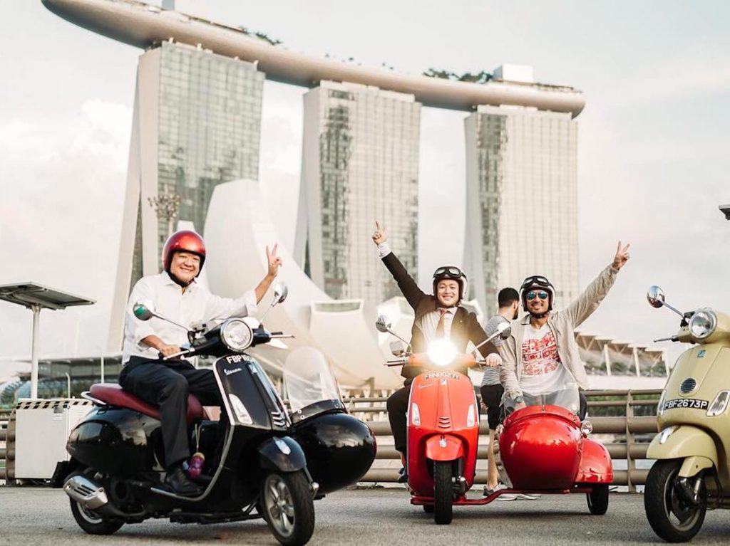 Tour the city from a vintage Vespa sidecar