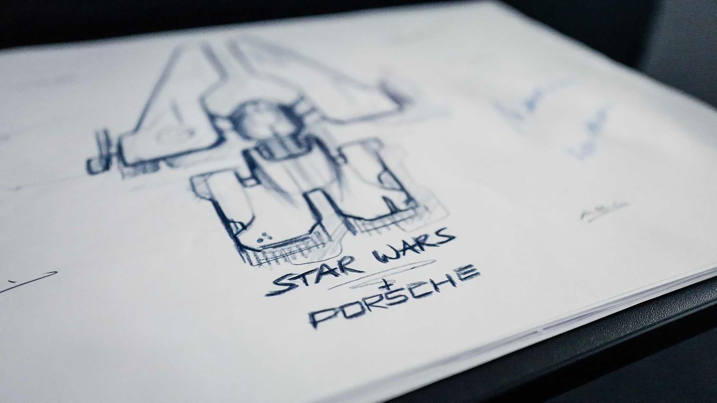 Porsche and Lucasfilm will debut a spacecraft for Star Wars Episode 9's premiere